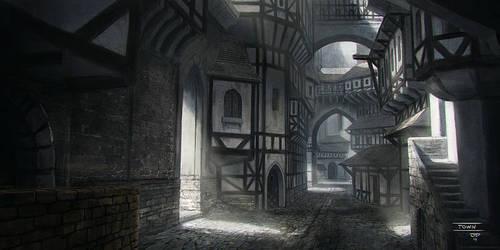 7 Mages - Town by hunterkiller