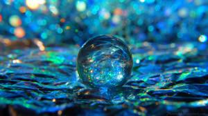 Liquid Blue Background