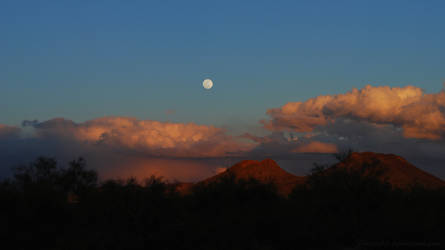 Sunset Moon Background by Phenix59