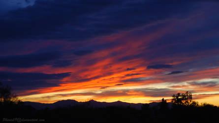 February Sunset Background