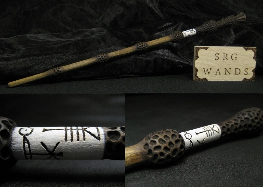 The elder wand by srg wands on deviantart for Wooden elder wand