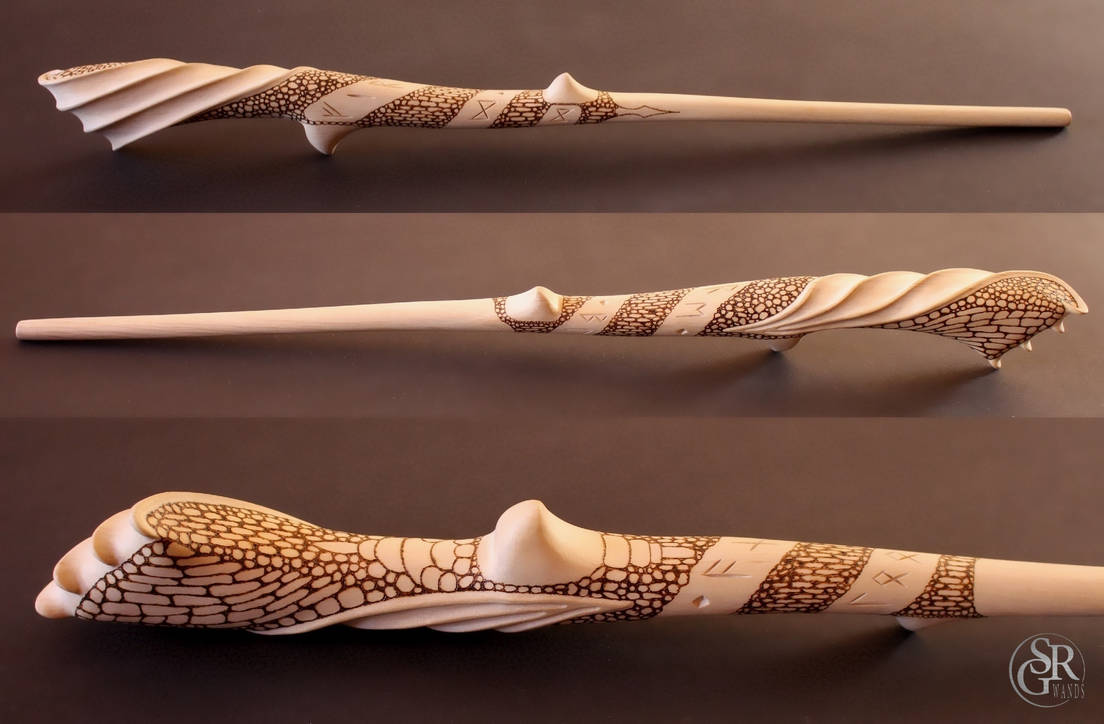 ''Balerion'' Game of Thrones inspired Dragon Wand by SRG-Wands