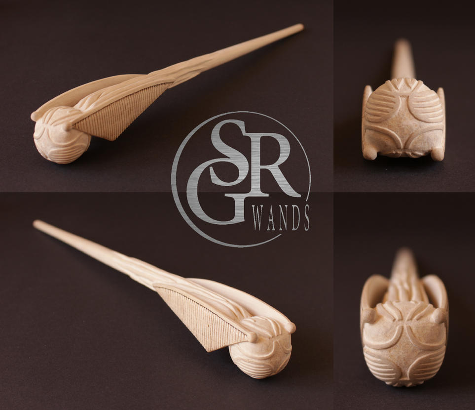 Wip special wand no 7 39 39 the golden snitch 39 39 by srg wands on deviantart - Coole wanddesigns ...