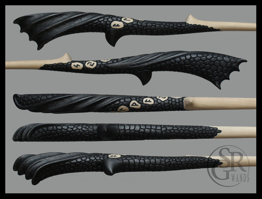 Dragon wand ''Dracarys'' Details by SRG-Wands