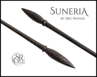 Suneria - Black Wand with Ginny Weasley Vibes by SRG-Wands