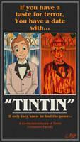 Tintin/Carrie AU film poster parody