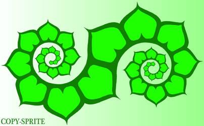 Lotus Spiral Copy Sprite by jiqoirs