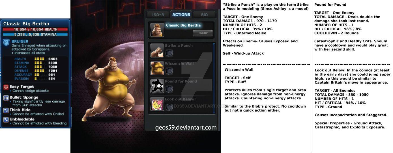 Big Bertha - Marvel Avengers Alliance by geos59