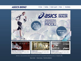 Asics website by Lifety