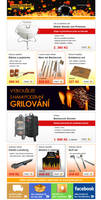 Direct mail grill