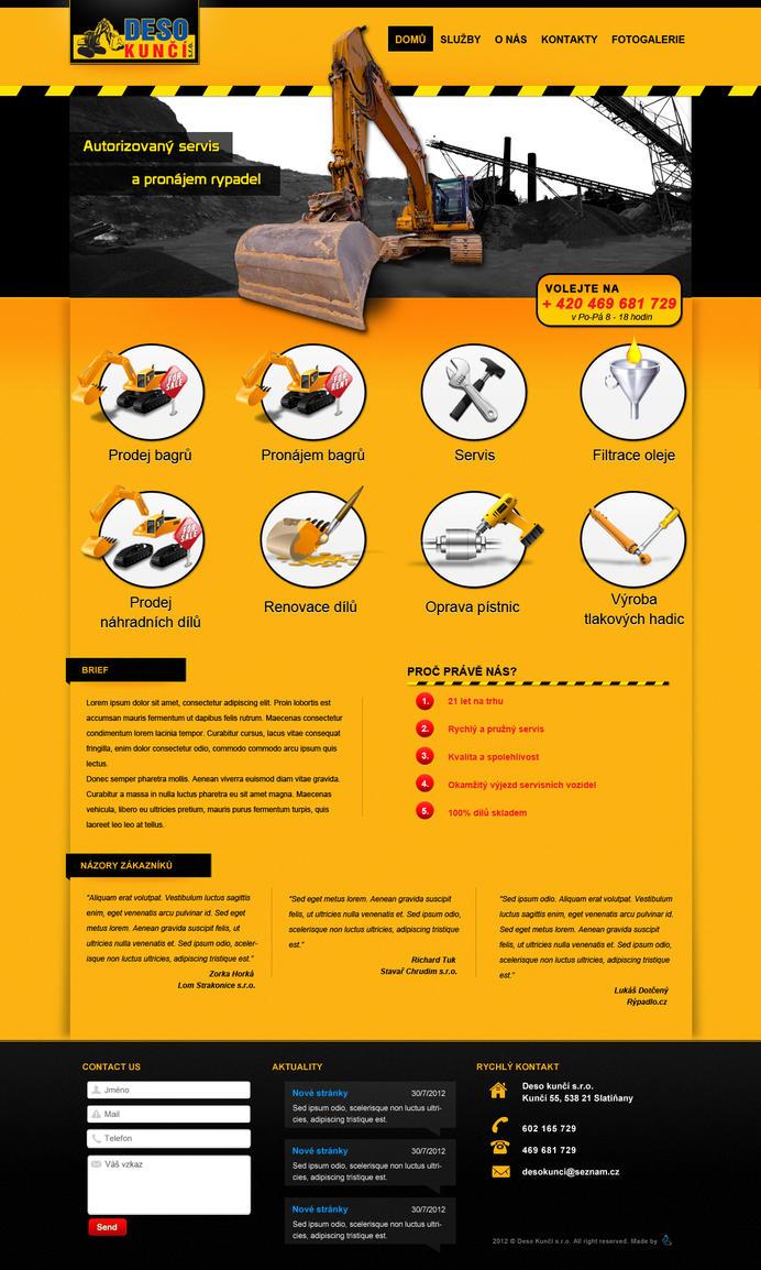 Deso Excavator website by Lifety