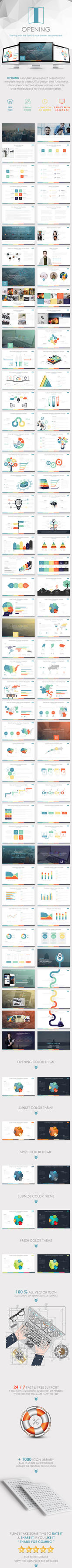 OPENING PLANS - Powerpoint Presentation Template by velozstar