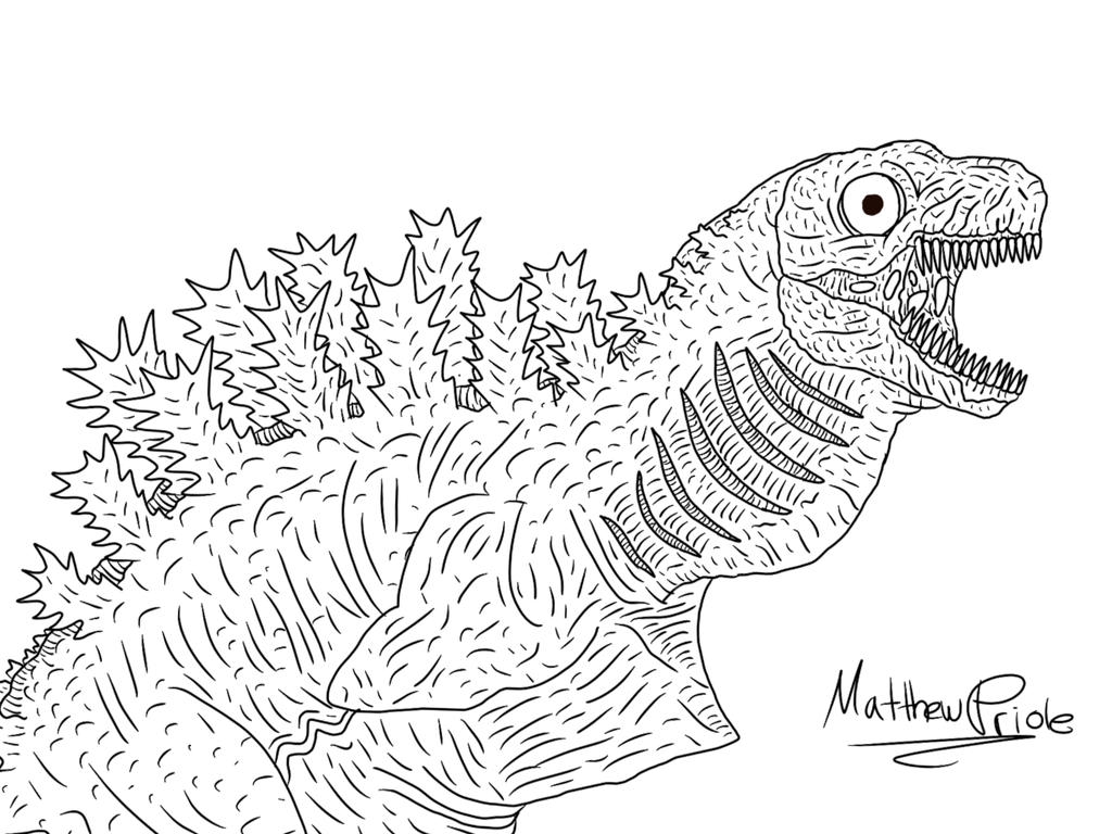 The Blood-Spewing Eel-Godzilla-Fetus by Mattoosaurus on