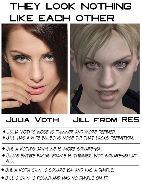 Jill Valentine Re5 Looks Nothing Like Julia Voth By