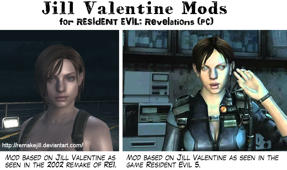 Jill Valentine Mods For Re Revelations By Remakejill On