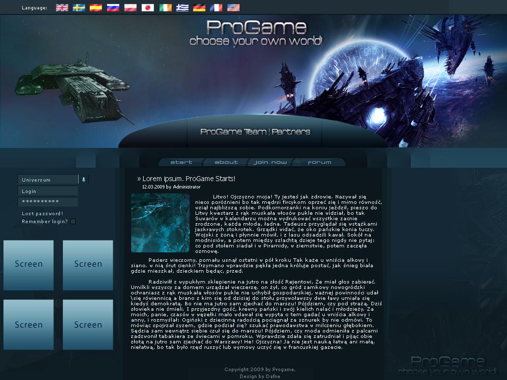 ProGame Design by majareq