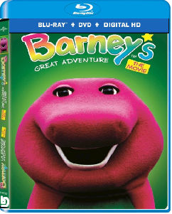 Barney's Great Adventure on Blu-ray case. (FAKE)