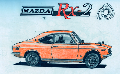 Mazda RX-2 by BlackLeatheredOokami