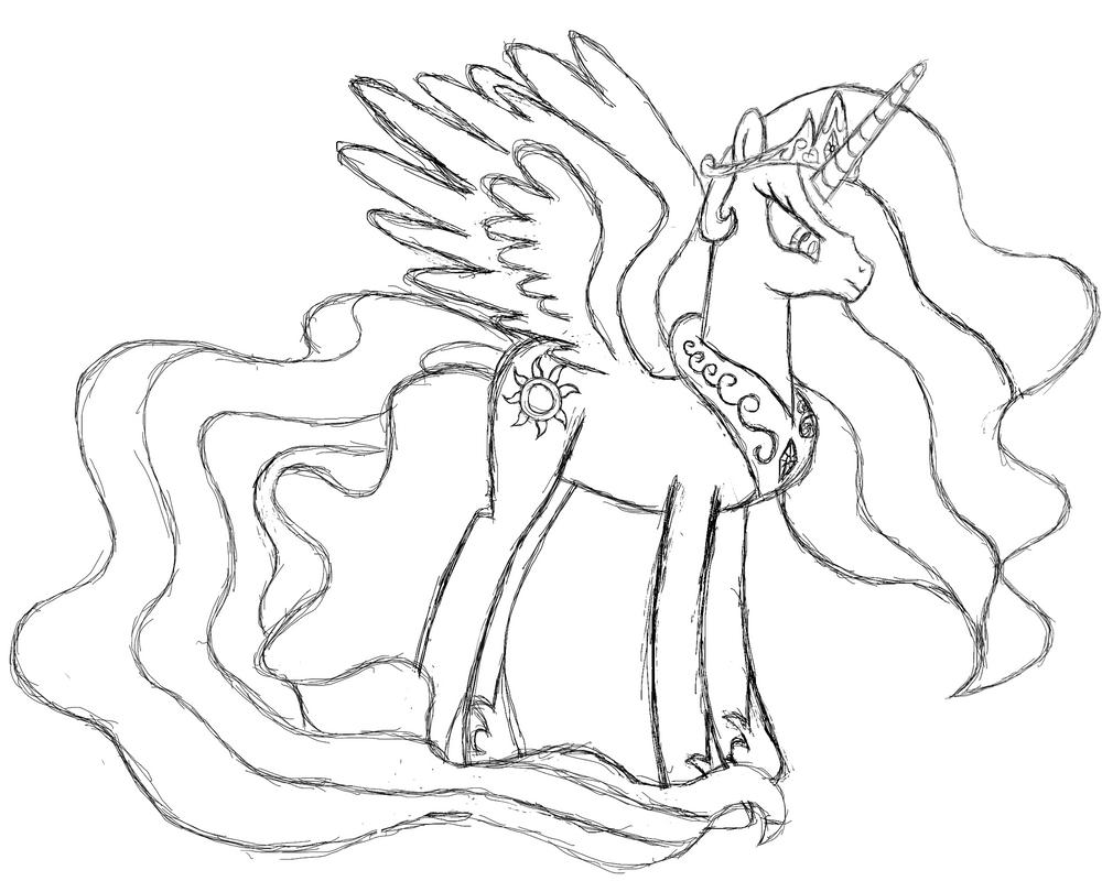 Princess Celestia   Sketch By MyLittlePonyFTW ...