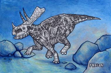 Triceratops study by PaxsonArt