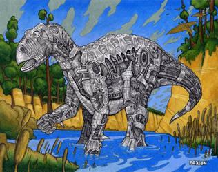 Iguanodon by PaxsonArt