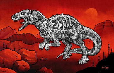 Allosaurus by PaxsonArt