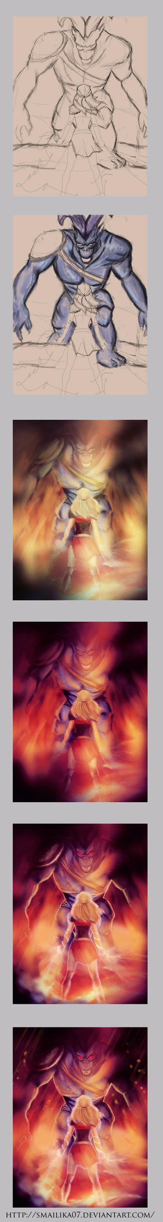 Painting Process by Smilika