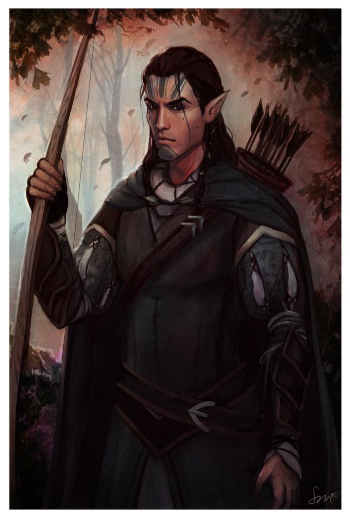 BG: Black archer by Smilika