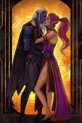BG: Nierra and Solaufein by Smilika