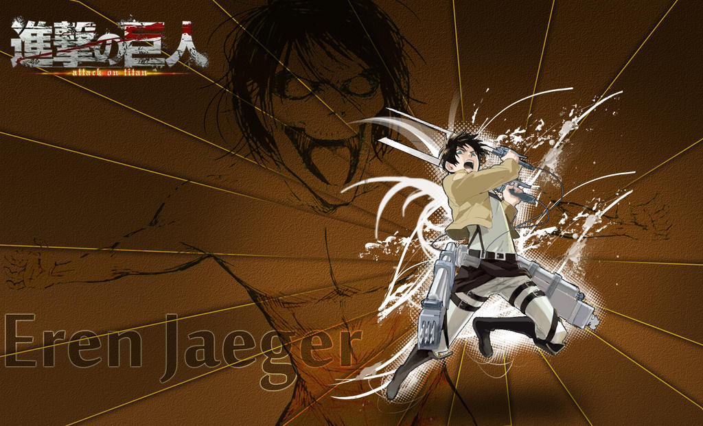 [Attack on titan] Eren Jaeger Wallpaper by Abdu1995
