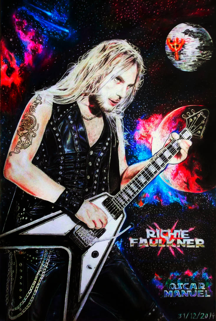 Richie Faulkner (Colored pencil drawing) by Oscar-Manuel