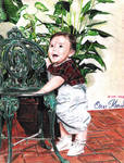 When I was a baby (Colored pencil drawing)