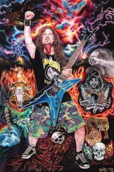 Dimebag Darrell (Colored Pencil Drawing) by Oscar-Manuel