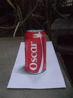 Anamorphic Coke (colored pencil drawing) by Oscar-Manuel