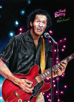 Chuck Berry (Colored pencil drawing)