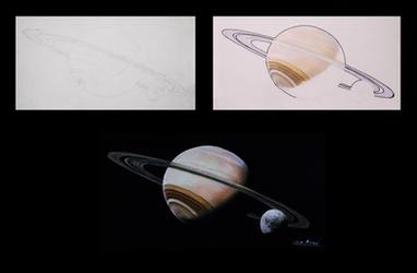 Step by step (Saturn) by Oscar-Manuel