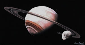 Saturn (Colored pencil drawing)