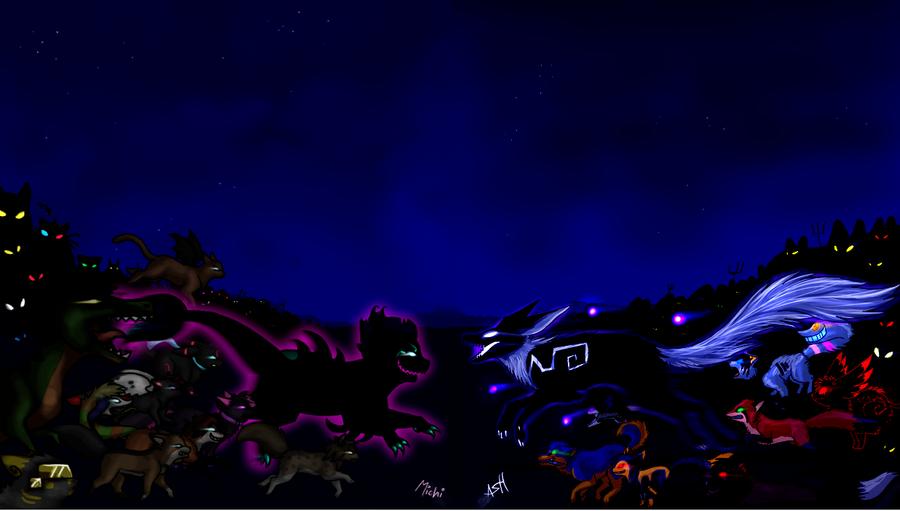 Fish Vs Fox Epic battle by VengefulSpirits