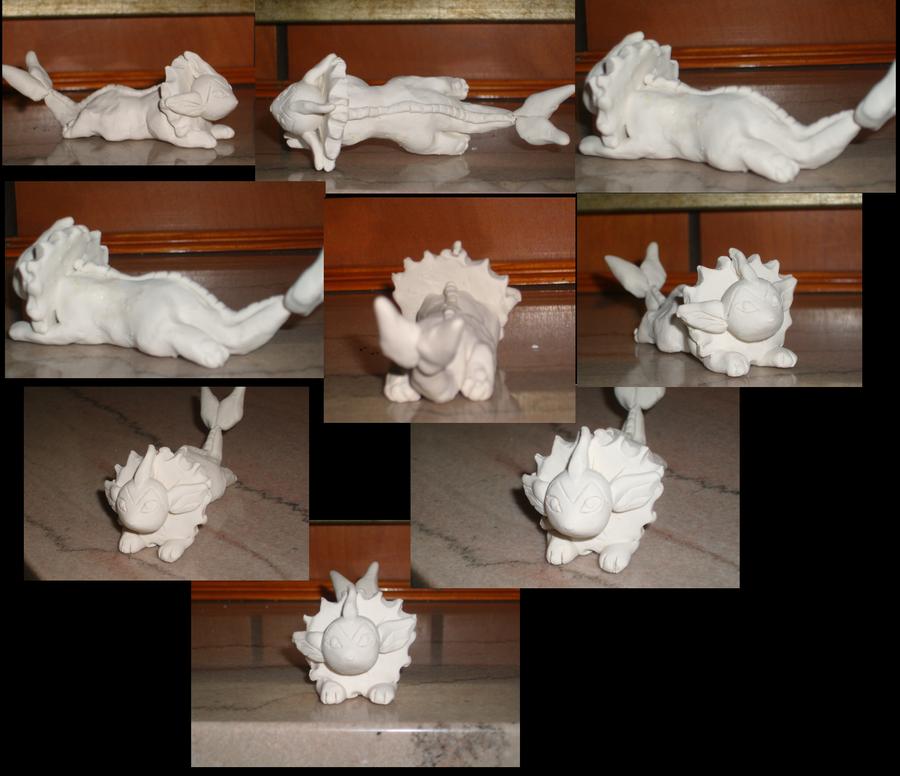 Clay Vaporeon by VengefulSpirits