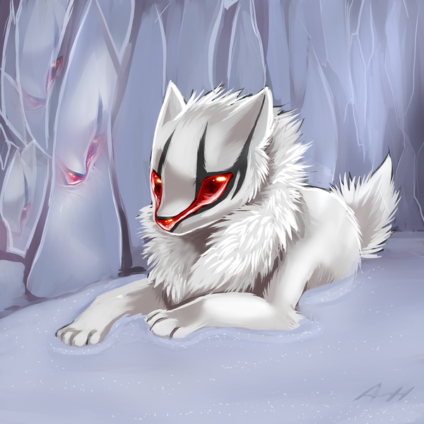 Deep in a Ice cave by VengefulSpirits