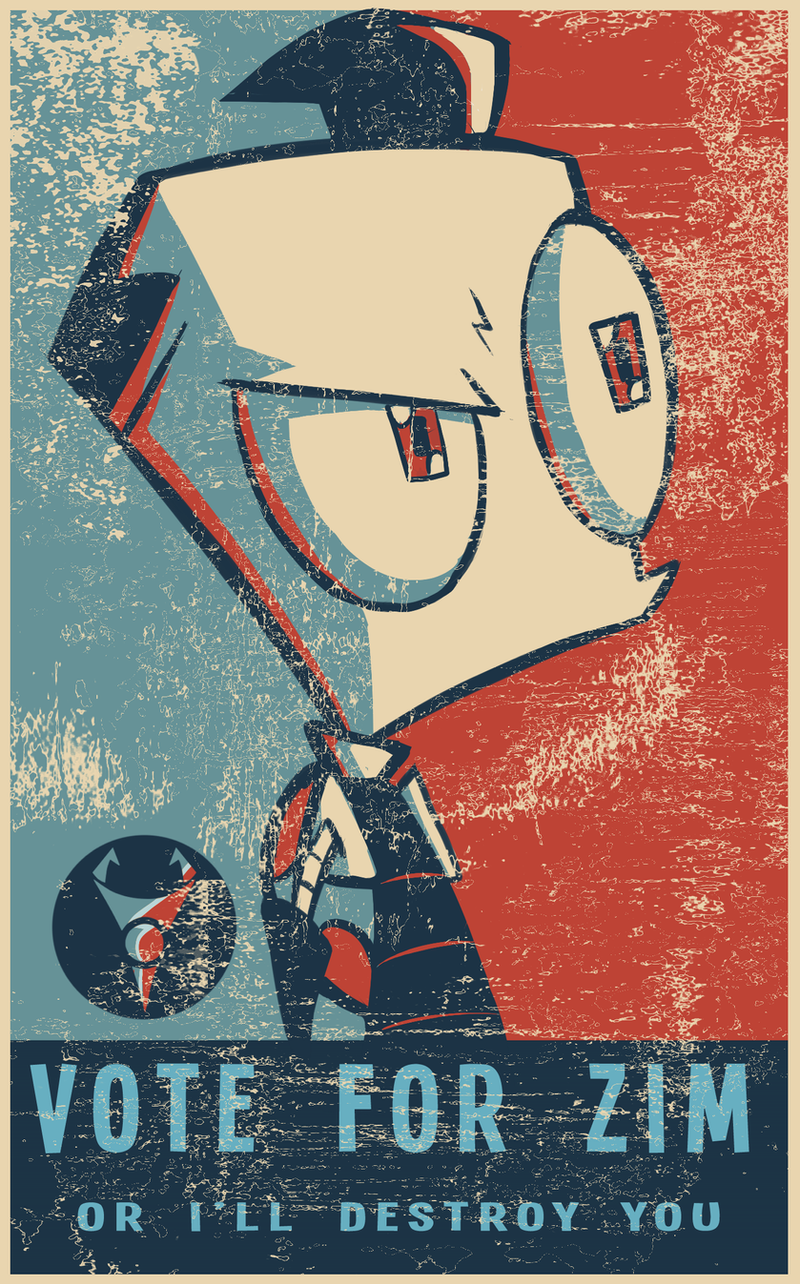 VOTE FOR ZIM! by Skeleion