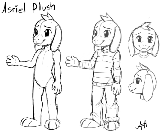 Asriel Plush Concept Art By Skeleion On Deviantart