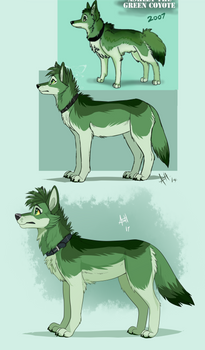 Green Coyote Redraw