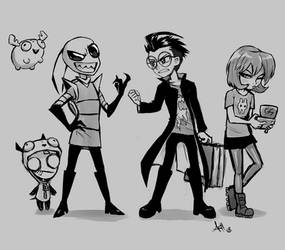 The IZ Gang by Skeleion