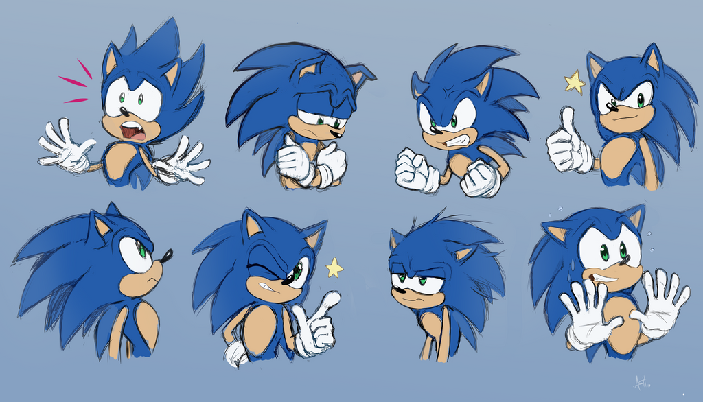 Sonic doodles 2 by Skeleion