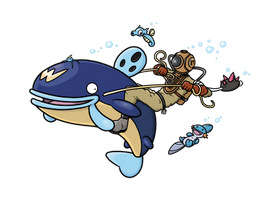 Great Pokemon Water Race Entry by Astr0nautical