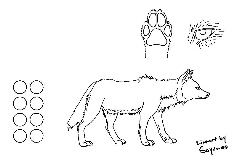 Wolf friends lineart