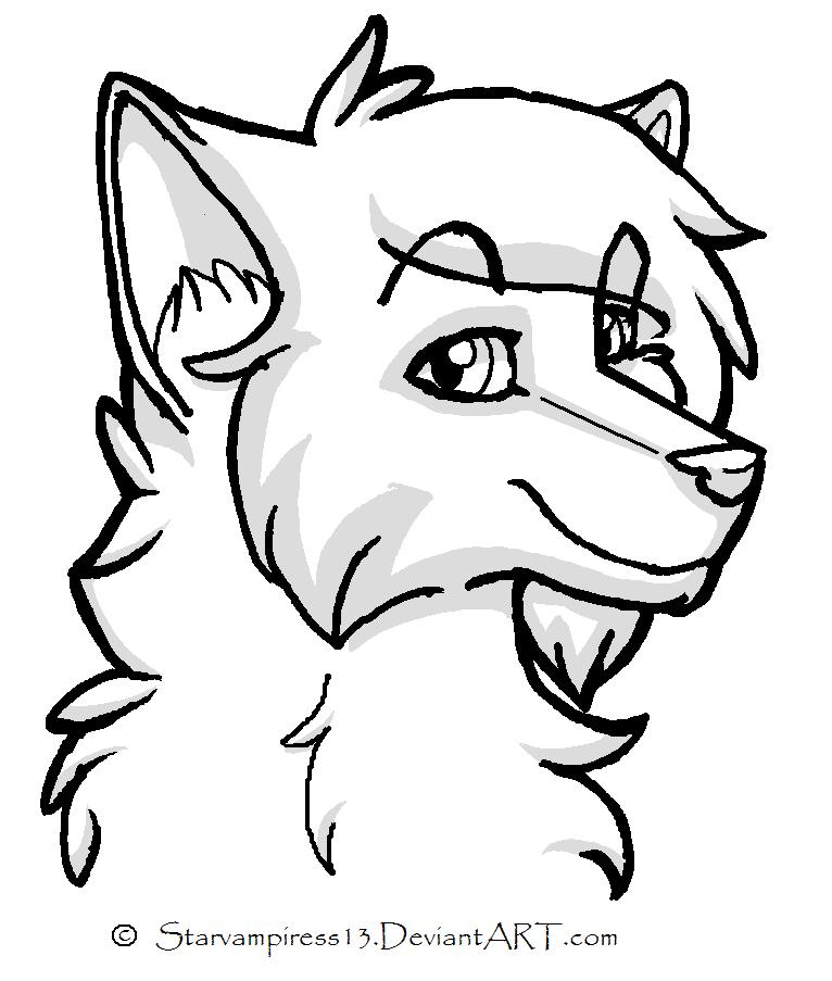 cartoon wolf lineartms-paint-friendly on deviantart