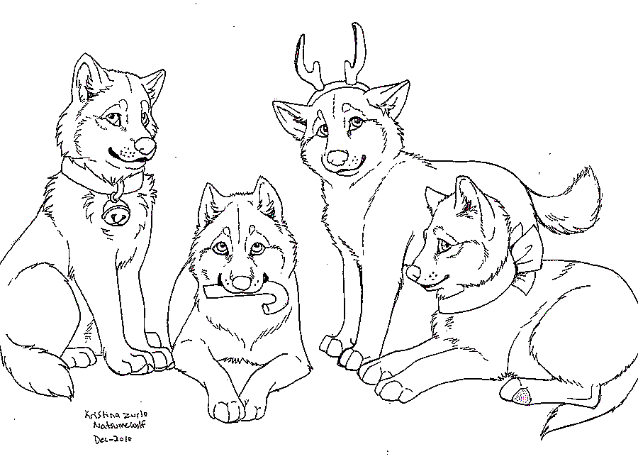 friendly wolf coloring pages - photo#4