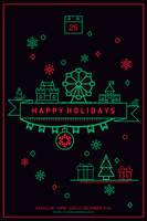 Happy Holidays Poster by UniversArtt